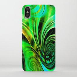 Curls Deluxe Green iPhone Case
