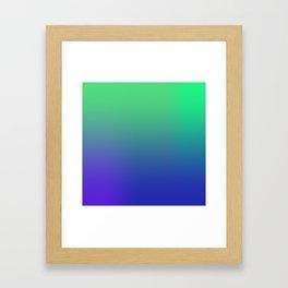 Green Blues Framed Art Print
