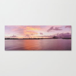 Harbor Sunset - Panoramic Canvas Print