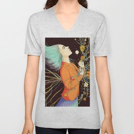 Stabbed in the Back and Still Blooming Unisex V-Neck