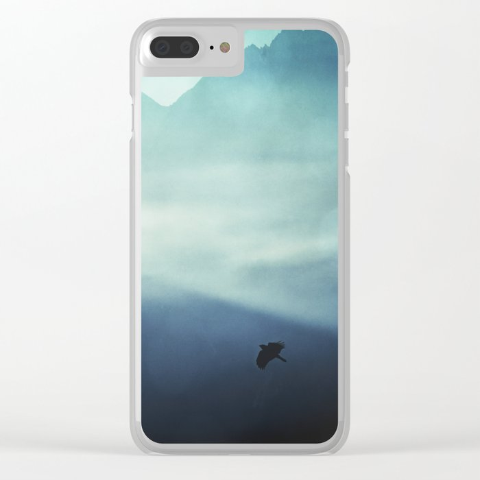 Vanishing Mountains Clear iPhone Case