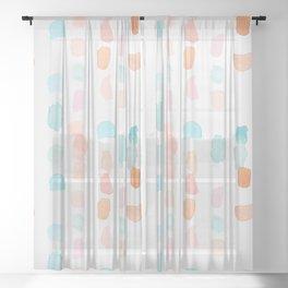 Watercolor Marks Sheer Curtain