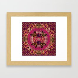 Victoria Mandala Collage Framed Art Print