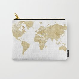 Wetlook Gold World Map Carry-All Pouch