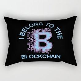 I Belong To The Blockchain BTC BItcoin Rectangular Pillow