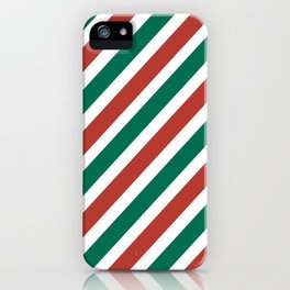 Holiday Stripes iPhone Case