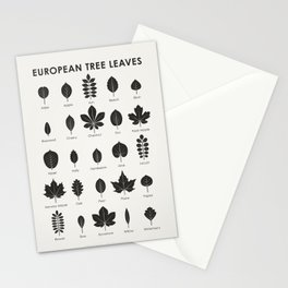 European Tree Leaves Stationery Cards