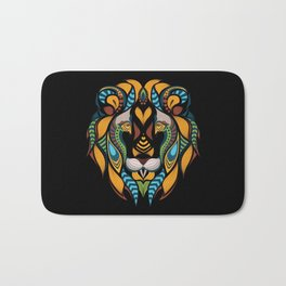 African Lion Head Bath Mat