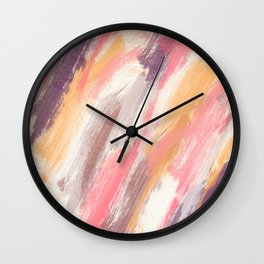Abstract painting , colors of summer... Wall Clock