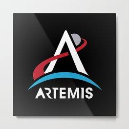 NASA Artemis Program Logo Mars 2024 Space Astronaut Metal Print