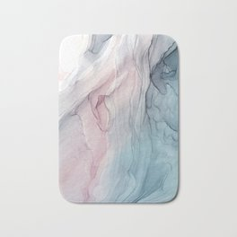 Calming Pastel Flow- Blush, grey and blue Bath Mat