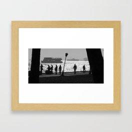 silhouette in Istanbul Framed Art Print