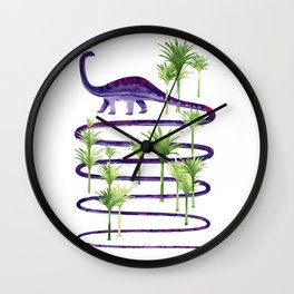 Dinosaur walk Wall Clock