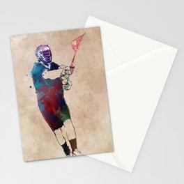 lacrosse sport art #lacrosse #sport Stationery Cards