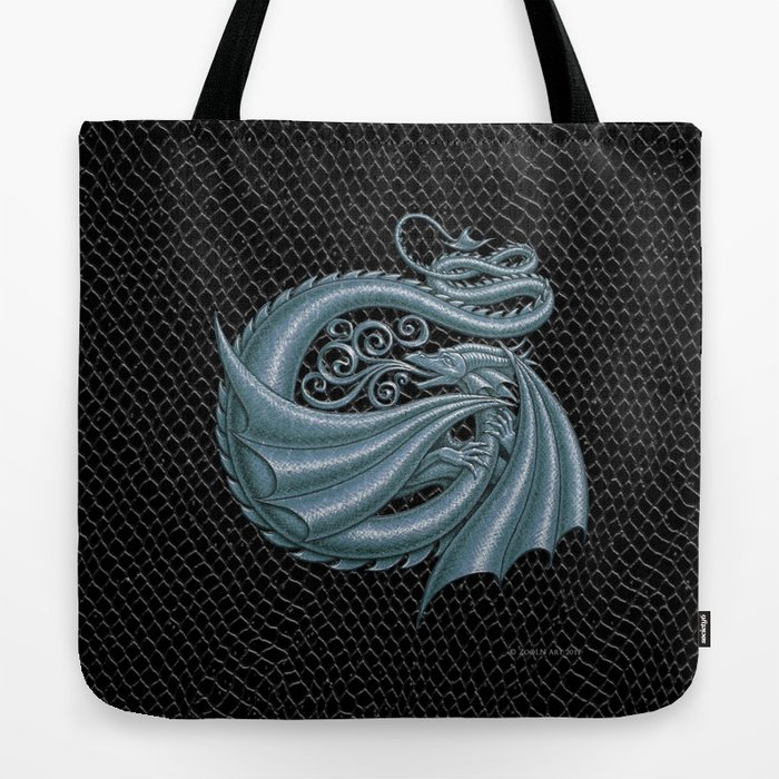 Dragon Letter G, from Dracoserific, a font full of Dragons. Tote Bag