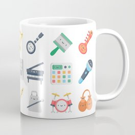 CUTE MUSICAL INSTRUMENTS PATTERN Coffee Mug