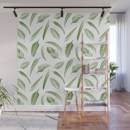 Leaf Pattern - Green Wall Mural