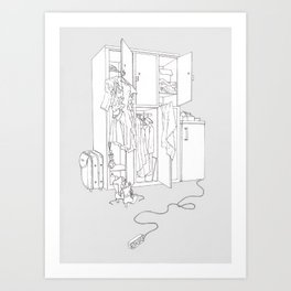 Divided Living Space Art Print