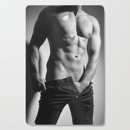 Photograph of a sexy man in Jeans #E9981 Cutting Board