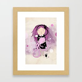 Octavia and Octopus Framed Art Print