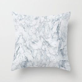 Vintage elegant navy blue white stylish marble Throw Pillow
