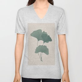 Ginko Leaves Unisex V-Neck