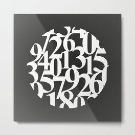 Abstract Numbers Circle Metal Print