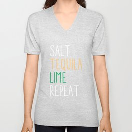 Salt Tequila Lime Repeat Funny Cinco De Mayo Unisex V-Neck