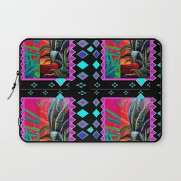 BLACK-TURQUOISE DESERT AGAVE PAINTING Laptop Sleeve