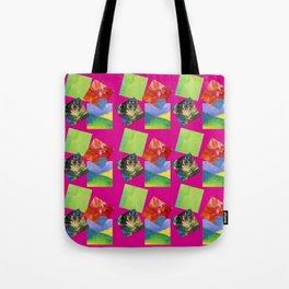 Painted Squares Jiggle - Pink Tote Bag