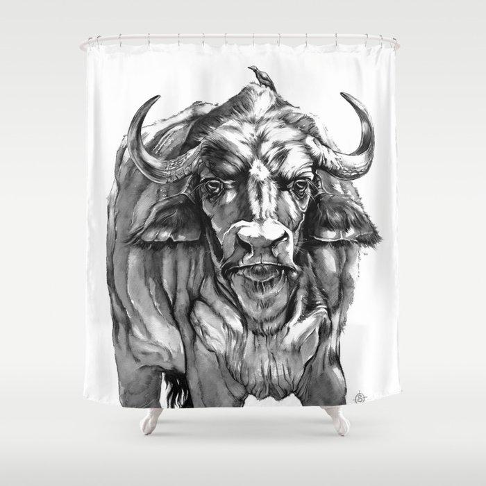 African Water Buffalo Shower Curtain