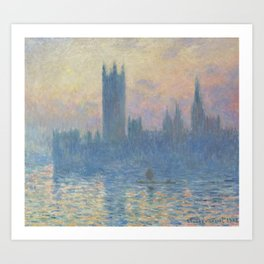 The Houses of Parliament Sunset Art Print