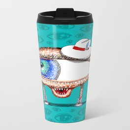 Pointillism Eye Guy Travel Mug