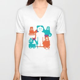 Friendlier Robots Unisex V-Neck