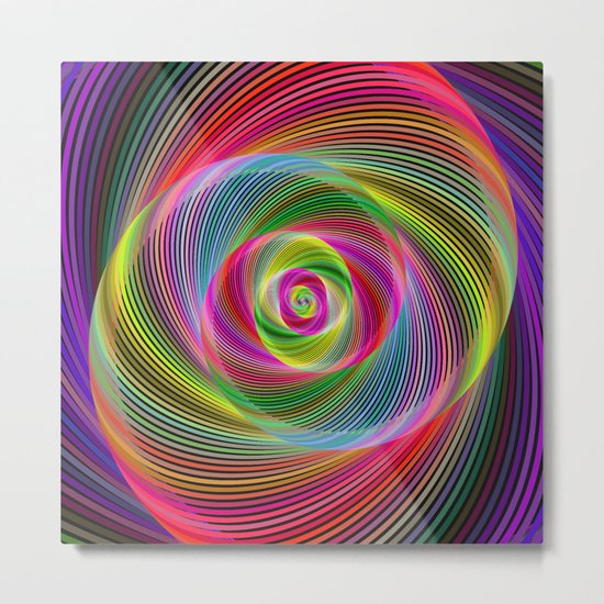 Psychedelic spiral dream Metal Print