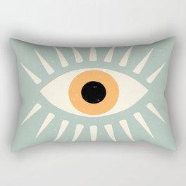 Yellow Eye Rectangular Pillow