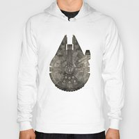 millenium falcon Hoodies featuring Millennium Falcon by Eric Dufresne
