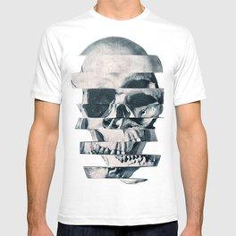Glitch Skull Mono T-shirt