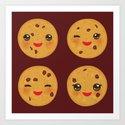 Kawaii Chocolate chip cookie by ekaterinap