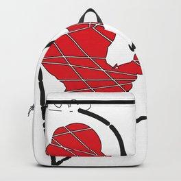 heart -valeria pappalardo artist Backpack