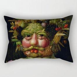 "Giuseppe Arcimboldo ""Holy Roman Emperor Rudolf II re-imagined as Vertumnus"" Rectangular Pillow"