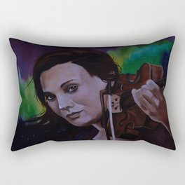 The violinist of the Northern Lights Rectangular Pillow
