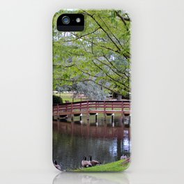 Park Geese iPhone Case