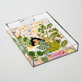Bathing with Plants Acrylic Tray