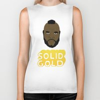 solid Biker Tanks featuring Solid Gold by Chase Kunz