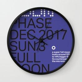 Super Full Moon - Dec 3 2017 Wall Clock