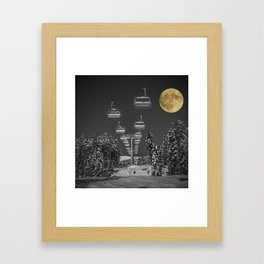 Chair Lift to the Moon Framed Art Print