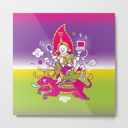 God of Wifi Metal Print