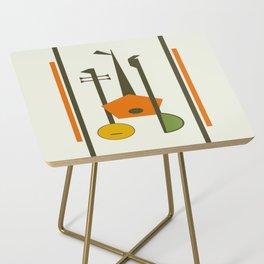 Mid-Century Modern Art Musical Strings Side Table