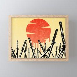 Katana Junkyard Framed Mini Art Print